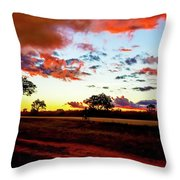 Sunset Landscape In Zambia Throw Pillow