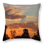 Sunset Moreno Valley Ca Throw Pillow