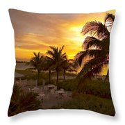 Sunset On Grace Bay Throw Pillow