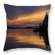 Sunset On The Chippewa Throw Pillow