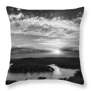 Sunset On The Niangua Throw Pillow