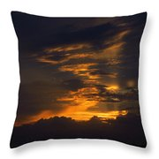 Sunset Over Daytona International Speedway Throw Pillow