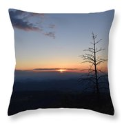 Sunset Over Kings Canyon In The Southwest Sierra Nevadas Throw Pillow