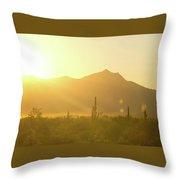 Sunset Over South Mountain Throw Pillow