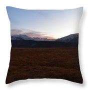 Sunset Over The Eastern Sierra Nevadas Throw Pillow