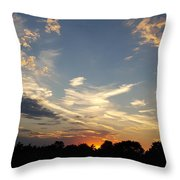 Sunset Sky Over Ohio Throw Pillow