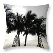 Sunset Thru The Trees Throw Pillow
