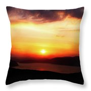 Sunsetting Over Portree, Isle Of Skye, Scotland No.2. Throw Pillow