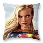 Supergirl Collection Throw Pillow