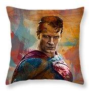 Superhero.superman. Throw Pillow