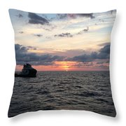 Supply Boat Throw Pillow