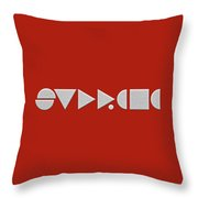 Supreme Being Embroidered Abstract - 2 Of 5 Throw Pillow