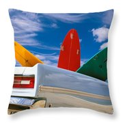 Surboards In A Plymouth Throw Pillow