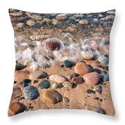 Surf And Stones Throw Pillow