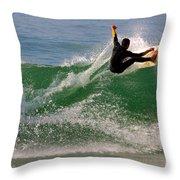 Surfer Throw Pillow by Carlos Caetano