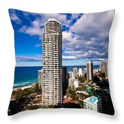 Surfers Paradise View Throw Pillow