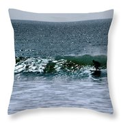 Surfing And Sailing Throw Pillow