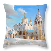 Suzdal. Pokrov Cathedral Throw Pillow