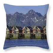 Svolvaer Norway Throw Pillow