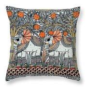 Swan Elephant Throw Pillow
