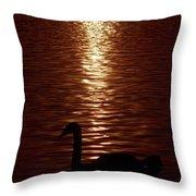 Swan Silhouette Throw Pillow