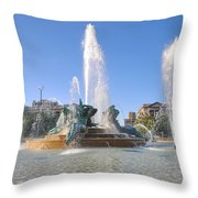 Swann Fountain - Center City Philadelphia Throw Pillow