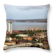 Swansea Bay South Wales Throw Pillow
