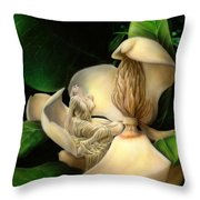 Sweet Smell Of Magnolia's Throw Pillow