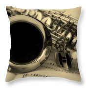 Sweet Sounds Of The Sax Throw Pillow
