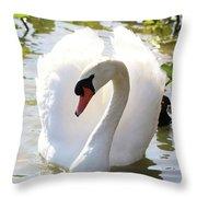 Sweet Swan 2 Throw Pillow