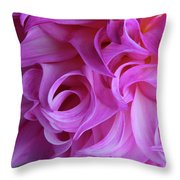 Swirls Of Romance Throw Pillow