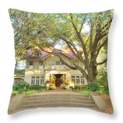Swiss Avenue Historic Mansion Dallas Texas Throw Pillow