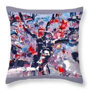 Symphony No 8 Movement 22 Vladimir Vlahovic- Images Inspired By The Music Of Gustav Mahler Throw Pillow