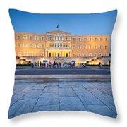 syntagma 'II Throw Pillow
