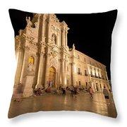 Syracuse, Sicily, Italy - Ortigia Downtown In Syracuse By Throw Pillow