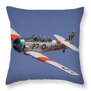 T6 At Reno Air Races Throw Pillow
