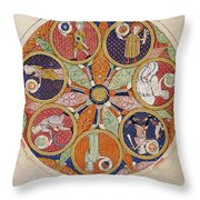 Table Of Planets Throw Pillow