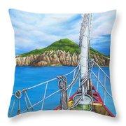 Take Me To Saba Throw Pillow