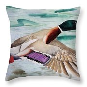 Takin Off Throw Pillow