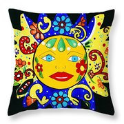 Talavera Sun Throw Pillow
