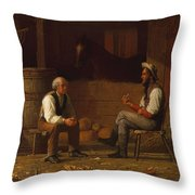 Talking It Over , Enoch Wood Perry  Throw Pillow