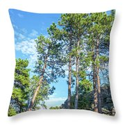 Tall Pine Trees Throw Pillow