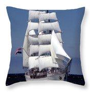 Tall Ship Europa Throw Pillow
