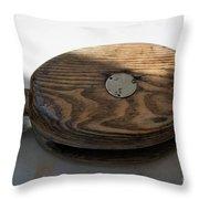 Tall Ship Wooden Line Block Throw Pillow