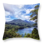 Tamblingan Lake - Bali Throw Pillow