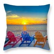 Tampa Bay Sunset Throw Pillow