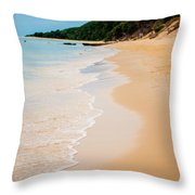 Tangalooma Island Beach In Moreton Bay.  Throw Pillow
