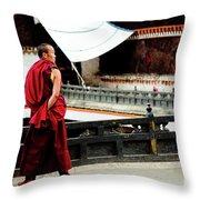 Tashilhunpo Monastery Shigatse Tibet Yantra.lv  Throw Pillow