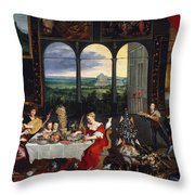 Taste, Hearing And Touch Throw Pillow