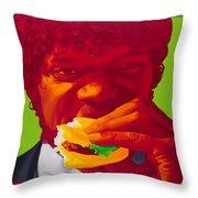 Tasty Burger Throw Pillow